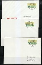 Germany 1982 nine (9) ATM DBP stamps covers. Used. Munchen 906. Munich 906