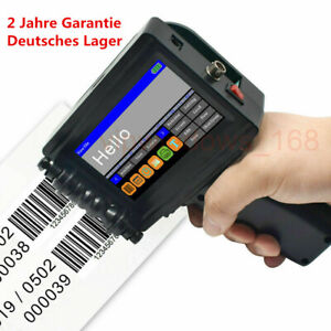 Handheld Inkjet Printer 600DPI Tinte Datum Wörter QR Code Barcode Logo Machines