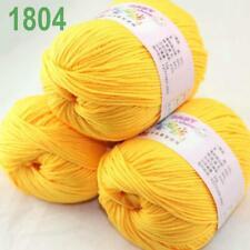 Aipyarn 3Balls x50g Soft Cashmere Silk Velvet Baby Hand Knitting Crochet Yarn 04