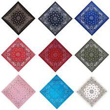 Cotton Hip Hop Paisley Bandana Square Scarf Wrap Neck Wristband Handkerchief