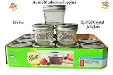 Ball 4 oz Quilted Glass Jelly Jars Case of 12 great for candles - Reguar Mail