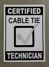 Cable Tie sticker - funny sticker for shed or toolbox.