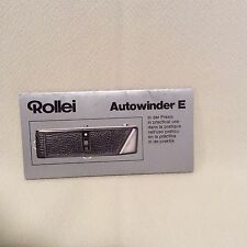 ROLLEI AUTOWINDER E INSTRUCTION BOOK