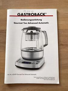 Bedienungsanleitung Gastroback Teemaschine 42439