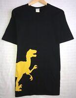 Vintage Hanes Beefy Tag Men's Size Large Black T-Shirt Raptor Terra Fossil euc