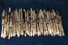 Lot of 50 Hollow Handle Silverplate Dinner Knives Craft Flatware