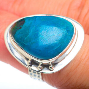 Large Chrysocolla 925 Sterling Silver Ring Size 6 Ana Co Jewelry R73134F