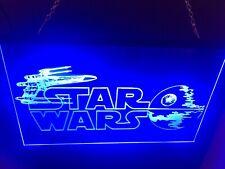 Star Wars Led Light Sign Display Game Room Bedroom Sign 8�x12�