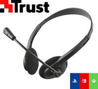 CUFFIE TRUST MICROFONO CHAT PC PS4 XBOX NINTENDO SWITCH VIVAVOCE CONSOLE SKYPE