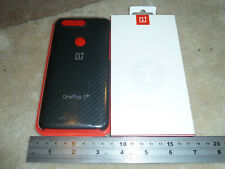ONEPLUS 5T OFFICIAL COVER + 3D TEMPERED GLASS SCREEN PROTECTOR BRAND NEW Carbon