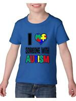 Autism Awareness T-Shirt I am Loving Someone with Autism  Toddler Kids T-Shirt