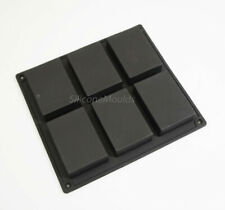 6 cell Rectangular 100g Bar Block Silicone Baking Mould / Soap Mold Wax Resin
