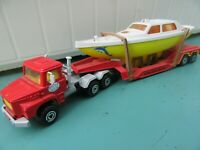 majORETTE KERIAN NICE Articulated 10 wheeled Boat transporter.  Very rare.  Mint