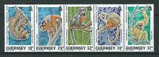 GUERNSEY1989 ANIMALS OF THE RAIN FOREST  UNMOUNTED MINT. MNH