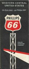 1965 PHILLIPS 66 Road Map CENTRAL & WESTERN UNITED STATES Route 66 California