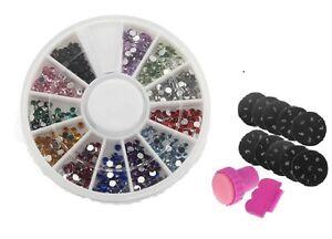 Stamp Nail Art Kit Set Manicure Craft Art + FREE 1000 Rhinestones