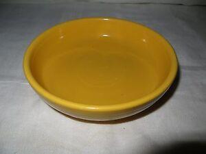 "Vintage Old Fiesta 6 1/8"" Fruit Bowl - Yellow - Dessert  - Homer Laughlin"