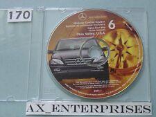 2000 - 2002 M ML ML320 ML430 ML500 ML55 Navigation CD 6 Ohio Valley Map © 2001.1
