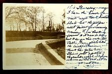 A PORTION OF THE GROUNDS NEW YORK CITY NY STA J cds Real Photo Postcard 1909