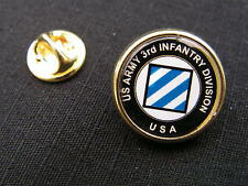 "Pin's "" US ARMY 3rd INFANTRY DIVISION "" USA ww2 JEEP infanterie GI's repro"