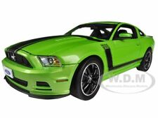 2013 FORD MUSTANG BOSS 302 GREEN 1/18 MODEL CAR BY SHELBY COLLECTIBLES SC453