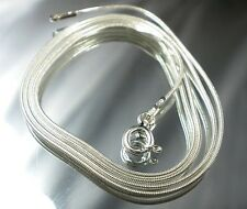 STERLING SILVER CHAIN 50 CM SILVER SNAKE MADE IN ITALY