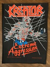 Kreator Uber Rare Extreme Aggression Backpatch Vintage Original 90s Patch Slayer