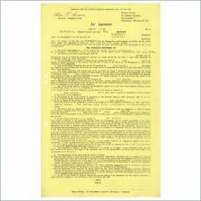 Beatles Related Zenith Six 1962 Cavern Club Performance Contract Bob Wooler (UK)