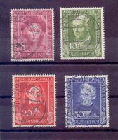 Bund 1949 - Wohlfahrt - MiNr. 117/120 rund gestempelt - Michel 170,00 € (933)