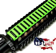 7 Inch Zombie Slime Green Picatinny Rail Rubber Covers 4 Pack