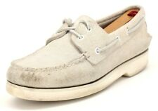 Sperry Women's Sport Ivory Leather 2 Eye Slip-On Comfort Boat Shoes Size US 8 M