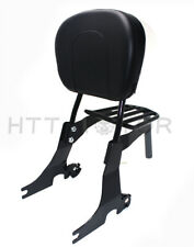 Sissybar Schienale Staccabile Portapacchi per Harley Sportster 94-03 Nero