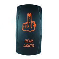 CAN AM MAVERICK COMMANDER BACKLIT BOAT ROCKER SWITCH LED FINGER ORANGE