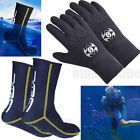 Swim Swimming 3MM Neoprene Wetsuit Gloves Booties Diving Snorkeling Cold-proof