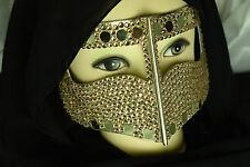 Batola metallic bedouine burqa gulfs niqab arab muslim women mask gulf desert