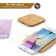 QI Wooden THIN Wireless Charger Charging Pad Mat For iPhone 6s 7 Samsung Galaxy