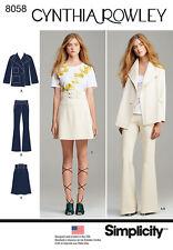 Simplicity 8058 CYNTHIA ROWLEY Suit Separate Skirt Jacket Pants Sewing Pattern