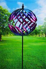 "Garden Wind Spinner Yard Decor Outdoor Motion Metal Art Kinetic Sculpture 78"""