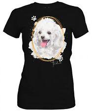 Las señoras camiseta Caniche firma perros el tema por SIVIWONDER