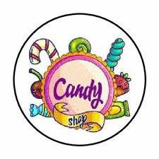 "48 Candy Shop Envelope Seals Labels Stickers 1.2"" Round"