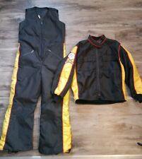 Vintage Snow Snowmobile 2 Piece Suit Bibs Jacket Mens Size Medium Ski Doo 80s