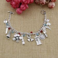 Women Statement Doctor Who Movie Bracelet Charms Personalized Fashion Jewelry