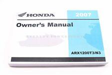 New Owners Manual 2007 ARX1200 F12 F12X Aquatrax N3/T3 GPS OEM Honda Book #N86