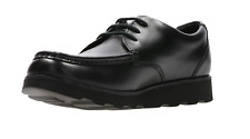 CLARKS Crown Tate Jnr / Senior Boys Lace Up Leather School Shoes Sizes 3 to 9