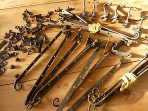 Wrought iron window latches antique various