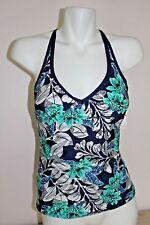 NWT JAG Swimsuit Bikini Tankini Top Size S Navy Catalan Floral