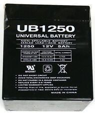 UNIVERSAL D5741 Sealed Lead Acid Battery(12V;5 AH; .187 Tab Terminals; UB1250)