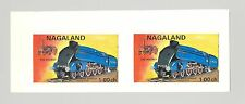 Nagaland (Propaganda) 1971 Trains 1v Imperf S/S Collective Proof Pair