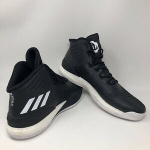 Adidas Mens D Rose 8 Boost NBA Basketball Shoes Black CQ1619 Mid Top Lace Up 14M