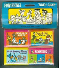 Unopened 1976 Flintstones Bath Soap Package, 4 Bars of Soap, Yogi Bear, McGraw